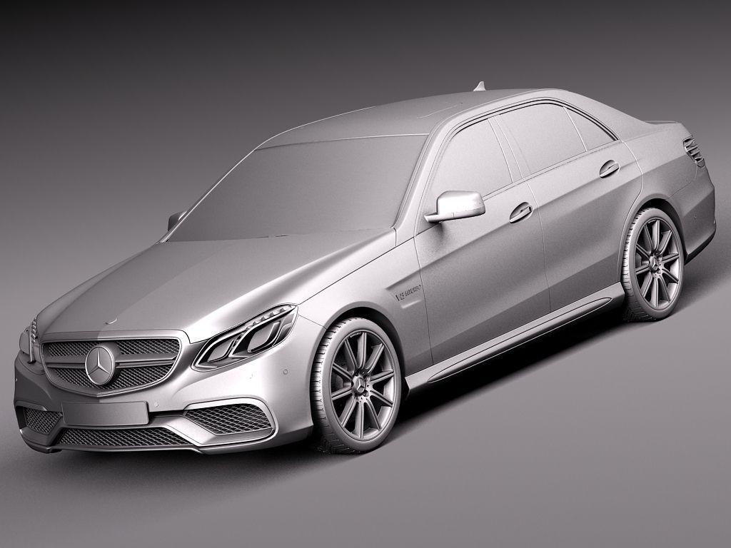 Mercedes benz e63 amg sedan 2014 3d model max obj 3ds fbx for Mercedes benz e63 amg