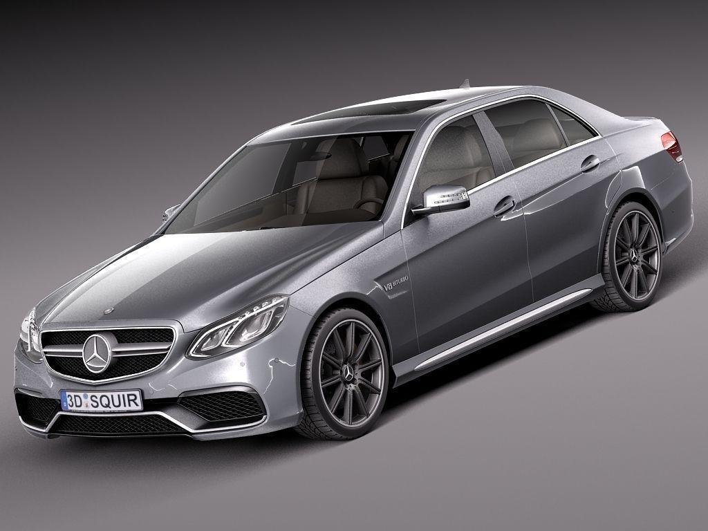 Mercedes benz e63 amg sedan 2014 3d model max obj 3ds fbx for 2014 mercedes benz models