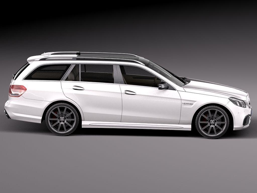 Mercedes benz e63 amg estate 2014 3d model max obj 3ds fbx for Mercedes benz 2014 models