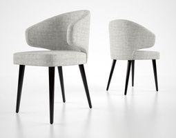 Minnotti Aston dining chair 3D Model