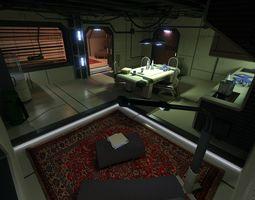 3d model sci fi apartment scene 2