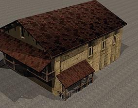 Synagogue reconstruction 3D asset