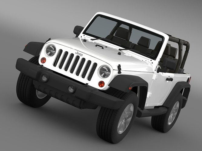 jeep wrangler islander edition 2010 3d model max obj 3ds. Black Bedroom Furniture Sets. Home Design Ideas