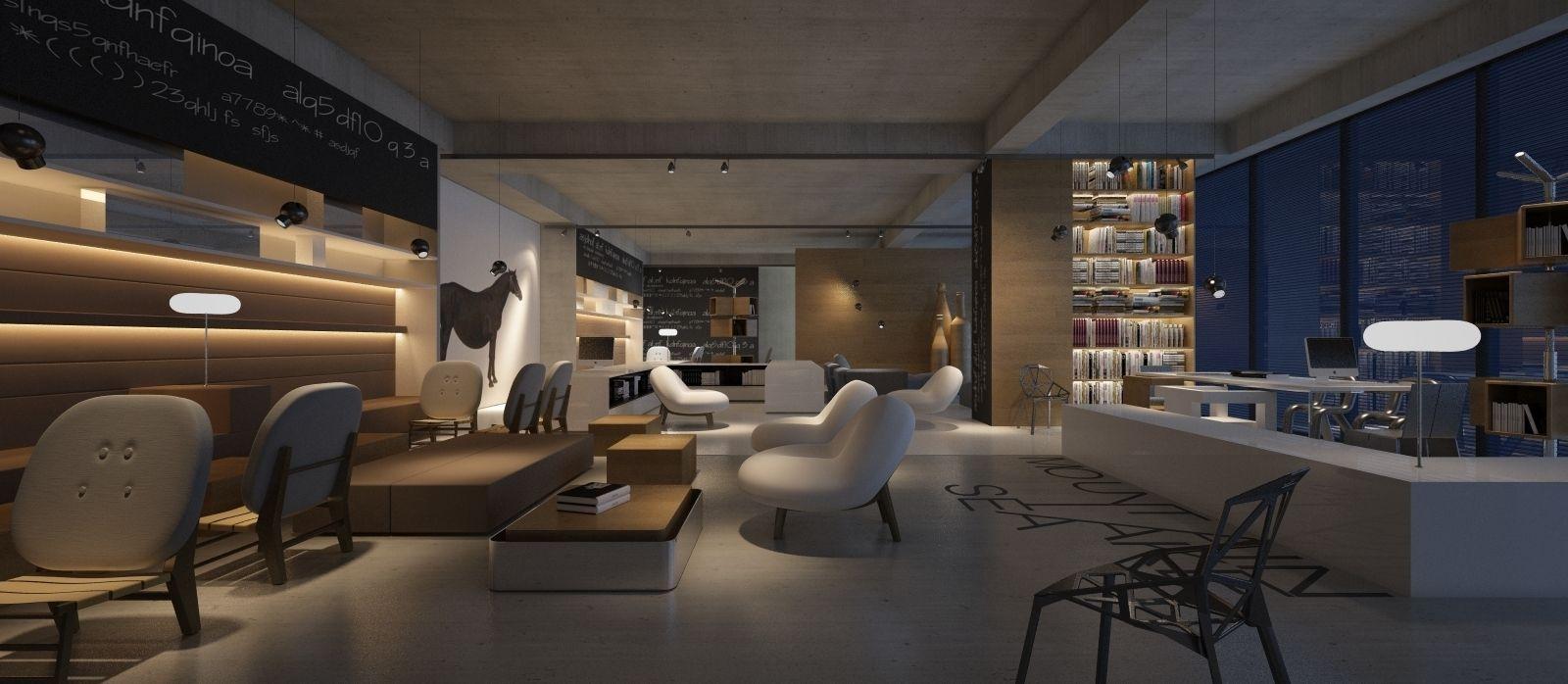 Interior design coffee house 3d model max for New model interior design