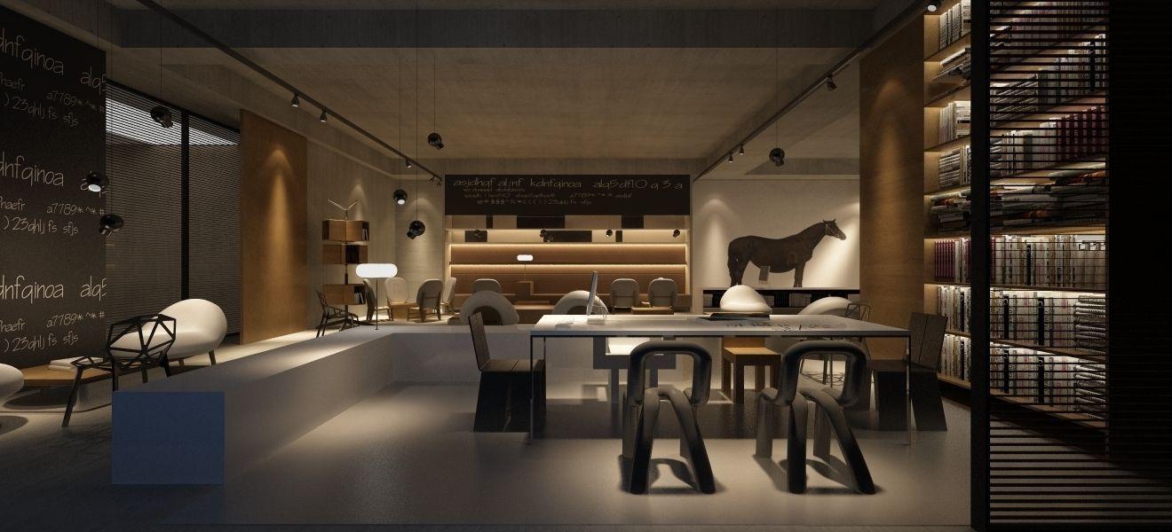 Interior Design Coffee House 3d Model Max Cgtrader Com