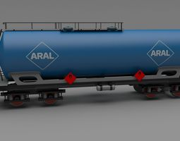 Aral train tanker car 3D Model