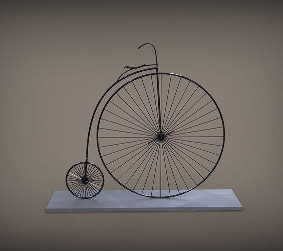 vintage bicycle 3d model stl 1