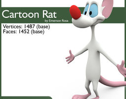 Cartoon Rat 3D Model