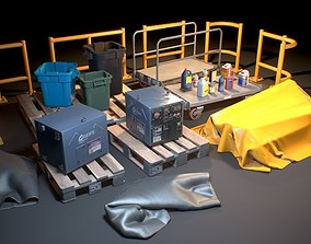 3D asset Storage Generic Prop Collection - Game ready