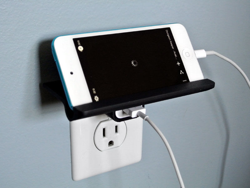 Wall Outlet Shelf Free 3d Model 3d Printable Stl