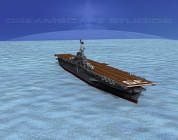 3d ticonderoga carrier cv-39 lake champlain animated