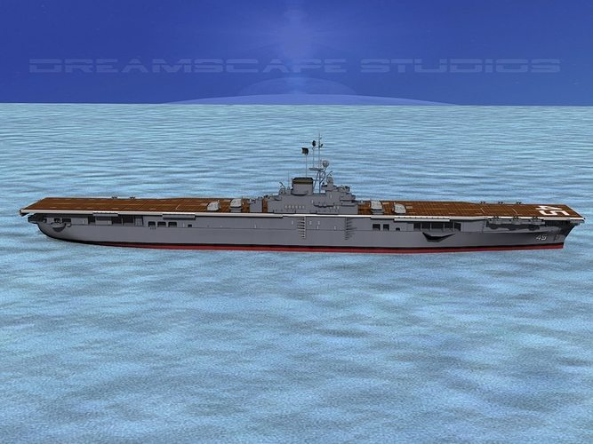 ticonderoga carrier cv-45 valley forge 3d model animated max obj 3ds lwo lw lws dxf stl 1