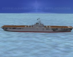 Ticonderoga Carrier CV-45 Valley Forge 3D Model