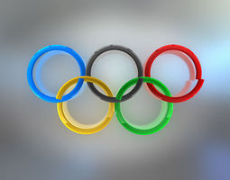 Animated Olympic Rings 3D model