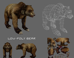 Bear low poly 3D Model