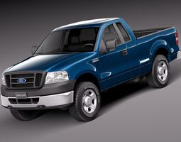 Ford F150 Regular Cab 2006 3D Model