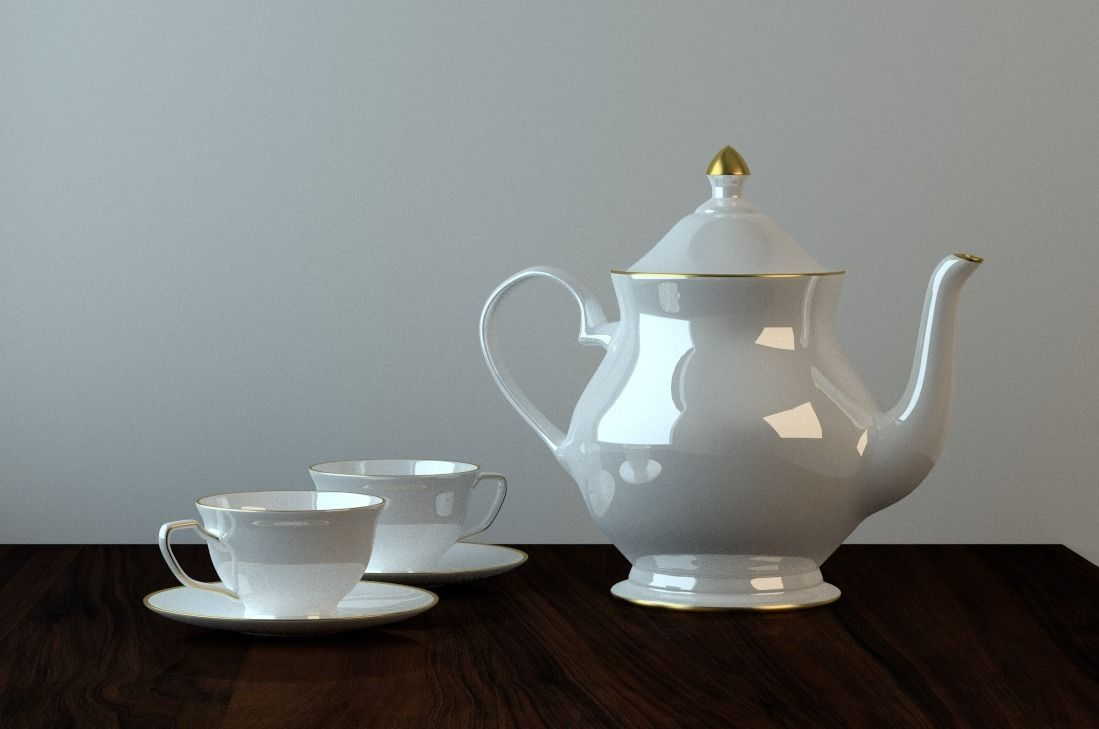 Teapot cups