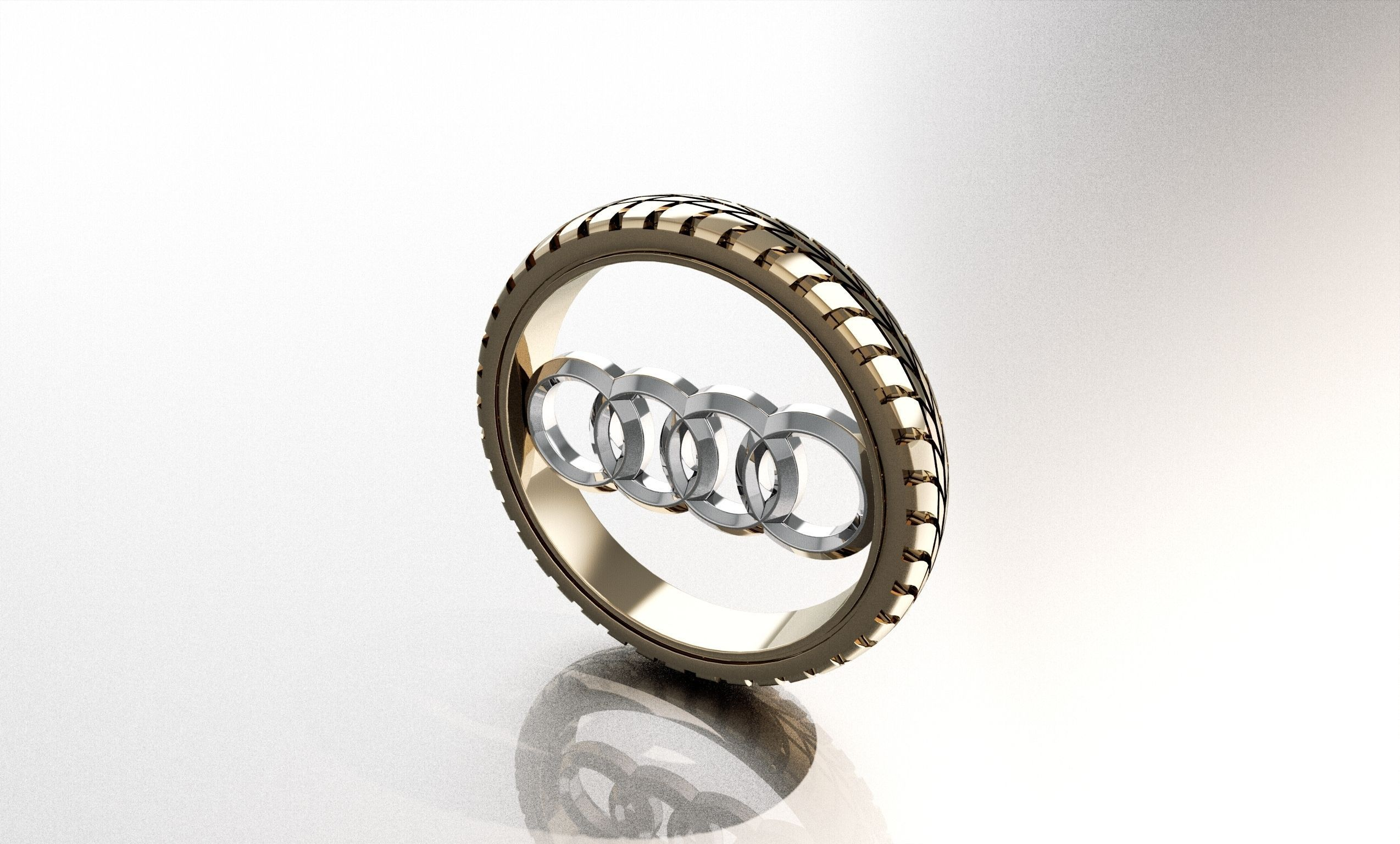 Audi Logo Pendant 3D Model 3D Printable Stl 3dm