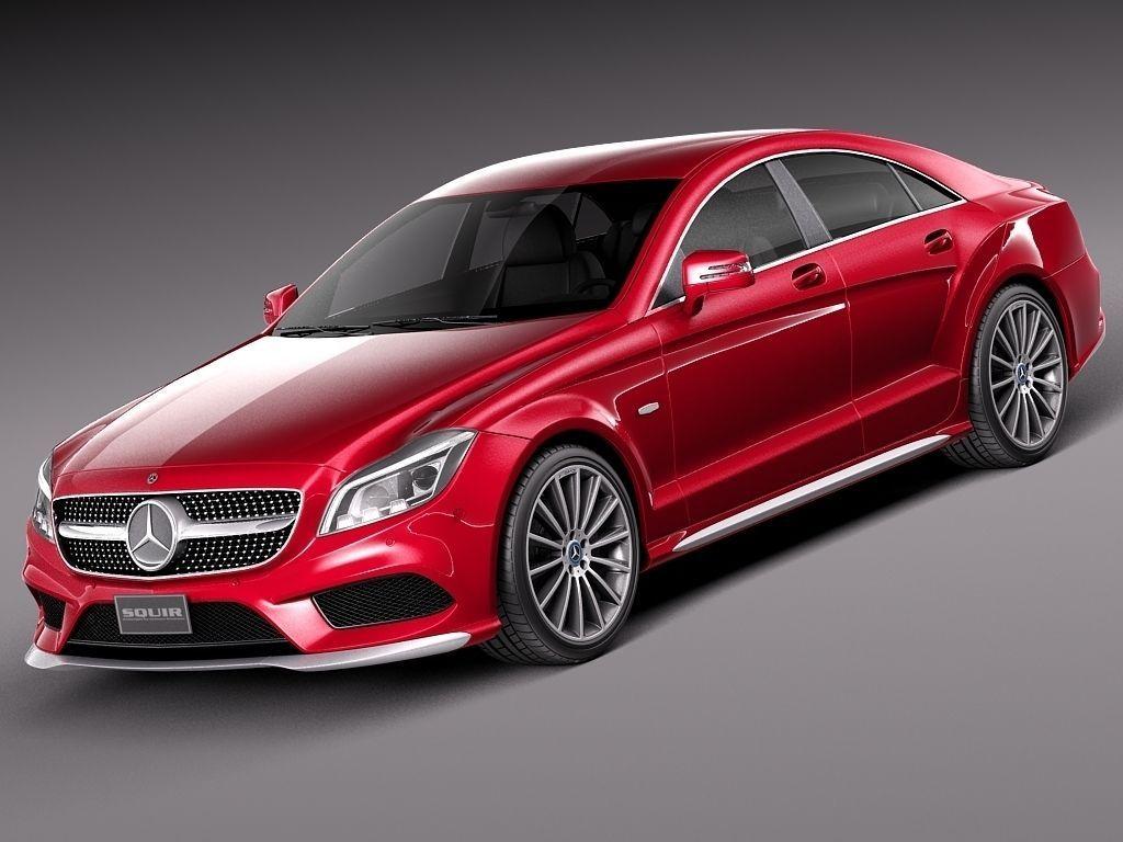 Mercedes benz cls 2015 3d model max obj 3ds fbx c4d for 2015 mercedes benz models