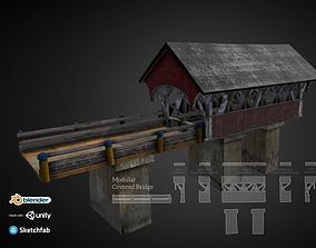 3D asset PBR Modular Covered Bridge