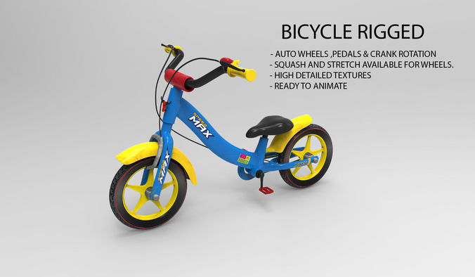 Bicycle Rigged3D model