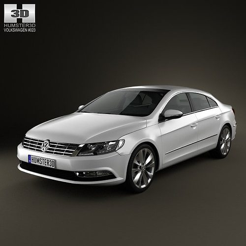 volkswagen passat cc 2013 3d cgtrader. Black Bedroom Furniture Sets. Home Design Ideas