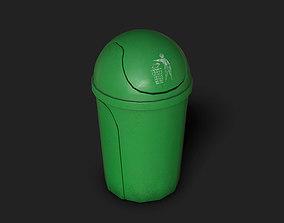 3D asset Small Trash Can Bin