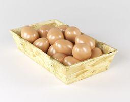 3D model Eggs in the basket