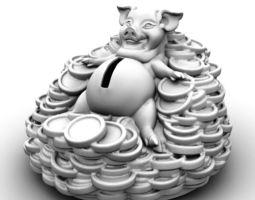 Piggy Bank 3D printable model