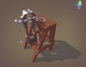 3D asset Blacksmith Post Vice