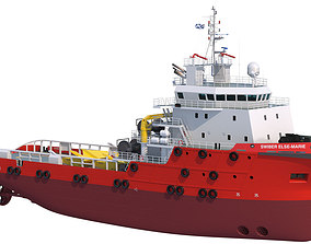 70 m AHTS Anchor Handling Tug Supply 3D