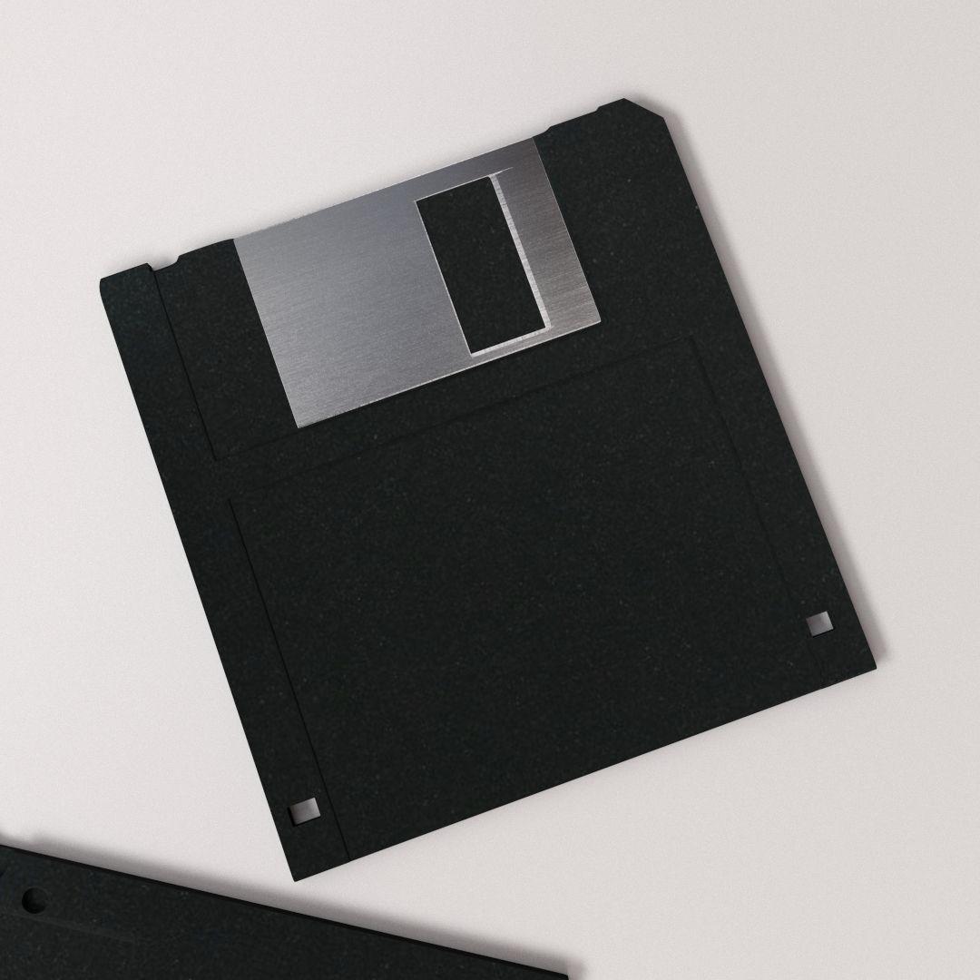 floppy disk 3 5 3d model 3ds fbx blend dae. Black Bedroom Furniture Sets. Home Design Ideas