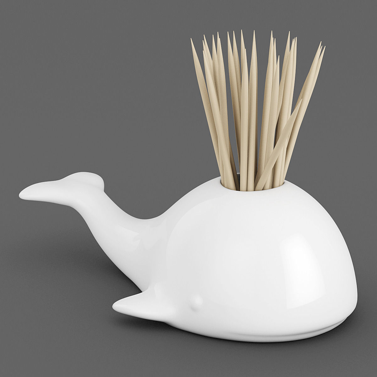 Whale Toothpick Holder 01 3d Model 3d Printable Max Obj