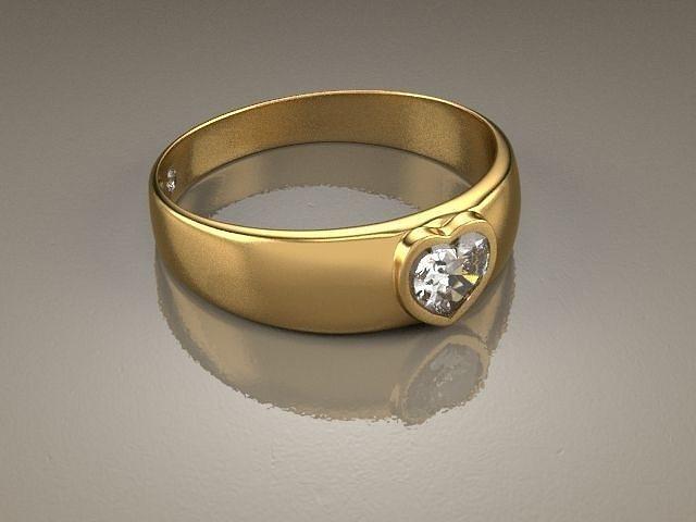 ring malia heart 3d model max 1