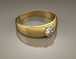 Ring Malia Heart 3D Model