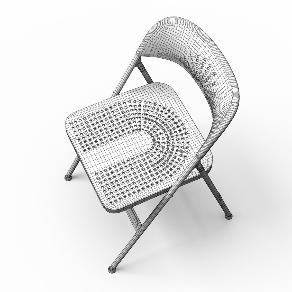 FRODE Folding Dining chair 3D Model x obj 3ds fbx CGTrader