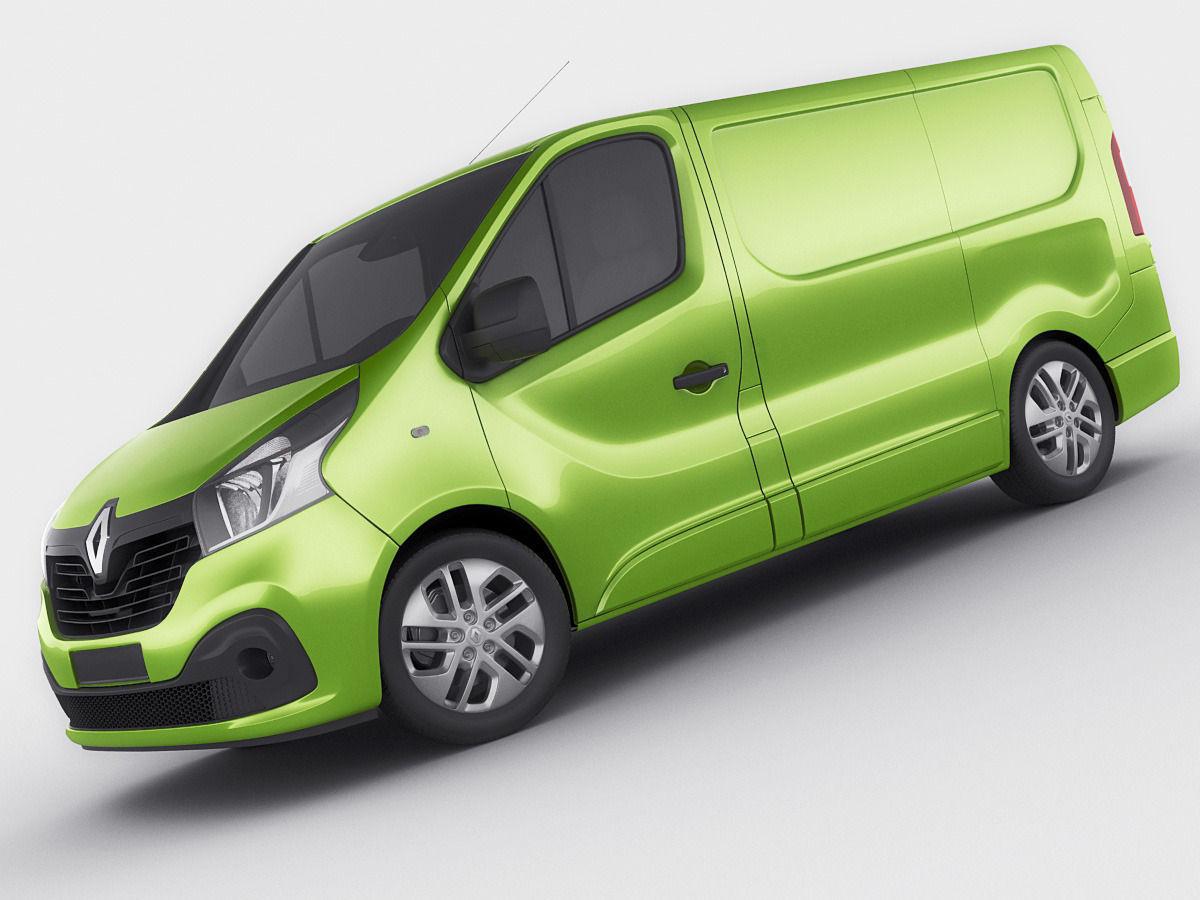 Renault Trafic 2015 panel van 3D Model .max .obj .3ds .fbx ...  Renault Trafic ...