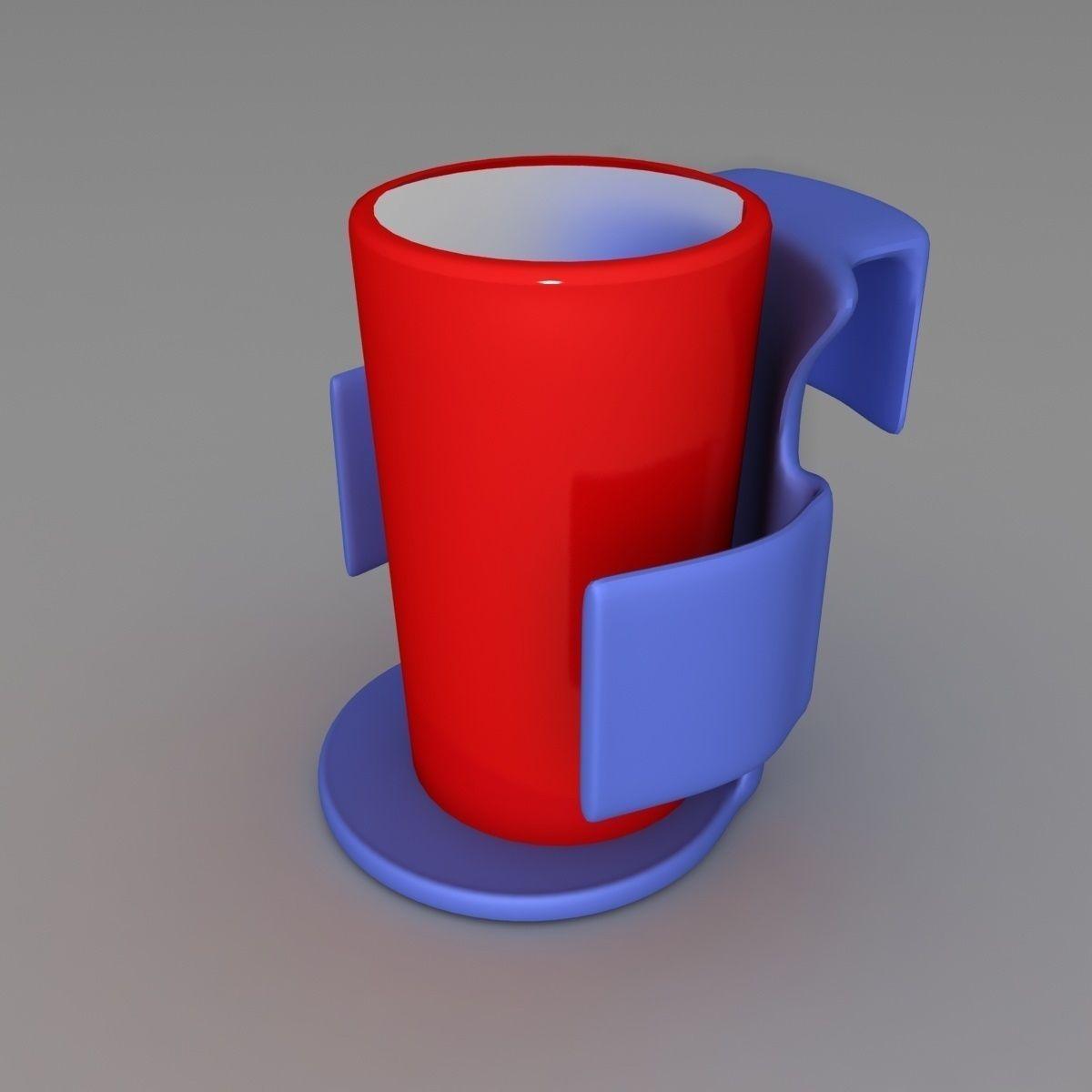 Car Cup Holder 3d Model 3d Printable Stl Cgtrader Com