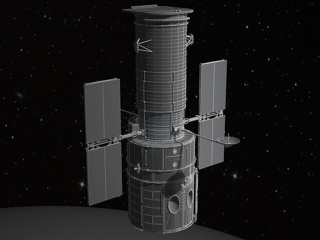 hubble telescope 3d model - photo #23