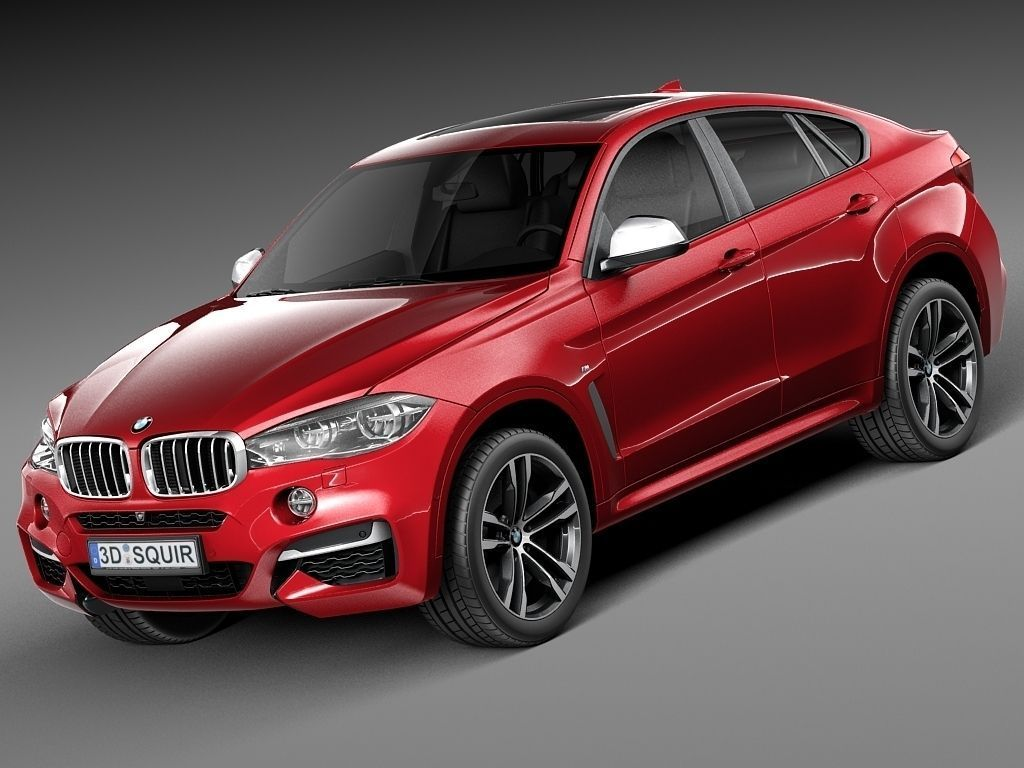 bmw x6 m 2015 3d model max obj 3ds fbx c4d lwo lw lws. Black Bedroom Furniture Sets. Home Design Ideas