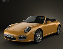 Porsche 911 Carrera 4 Cabriolet 2011 3D