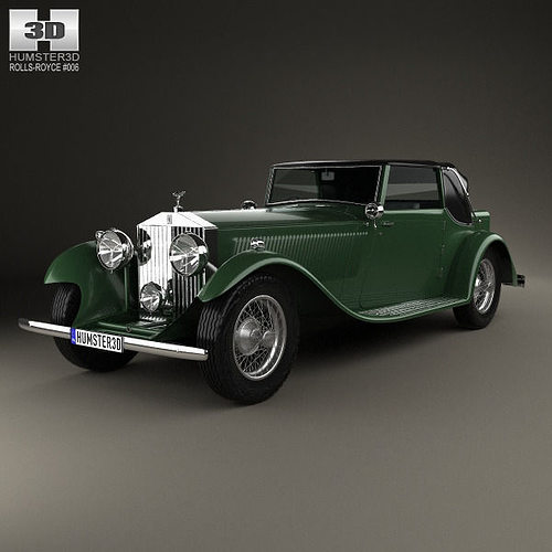 rolls-royce phantom ii continental 1933 3d model max obj 3ds fbx c4d lwo lw lws 1