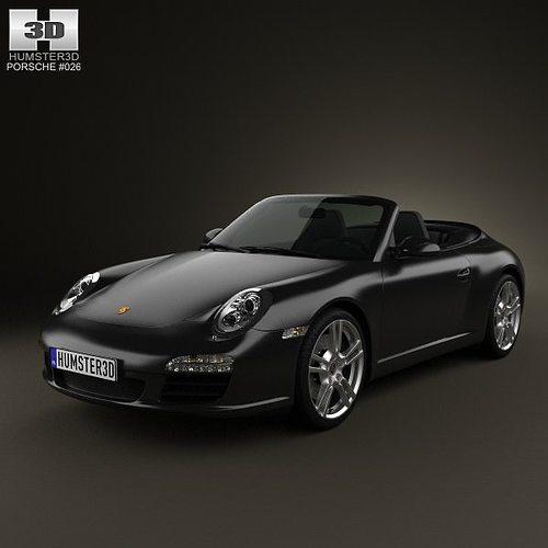 porsche 911 carrera black edition cabriolet 2011 3d model max obj mtl 3ds fbx c4d lwo lw lws 1