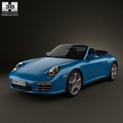 porsche 911 carrera 4s cabriolet 2011 3d model max obj 3ds fbx c4d lwo lw lws 1