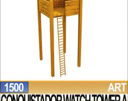 3D Models Conquistador Watch Tower A 1500  3D Model