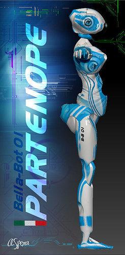 robot bella-bot 01 avatar character 3d model obj mtl dae 1