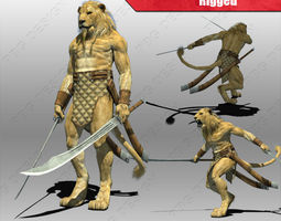 Lion Warrior 3D model