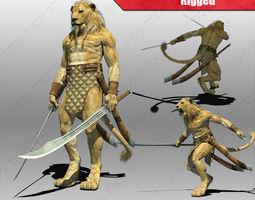 Lion Warrior 3D Model