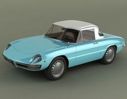 Alfa Romeo Duetto Hardtop 3D Model