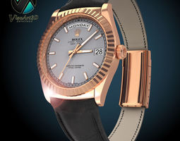 Rolex Day Date Rose Gold 3D Model
